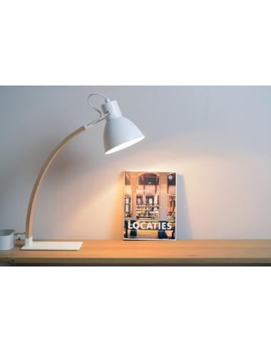 Galda lampa Curf balta