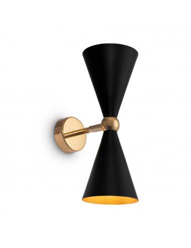 Sienas lampa Vesper melna