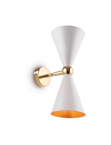 Sienas lampa Vesper balta