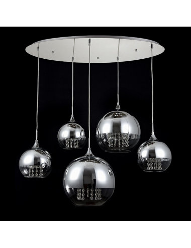 Piekaramā lampa Fermi niķelis