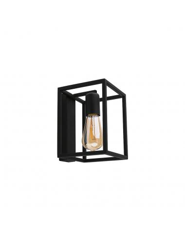 Sienas lampa Crate melna