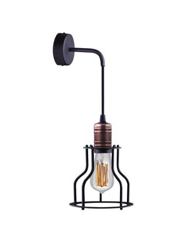 Sienas lampa Workshop melna
