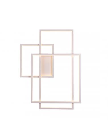 Sienas lampa Geometric balta