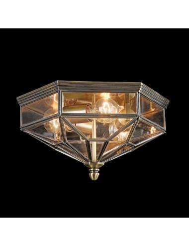 Griestu lampa Zeil bronza