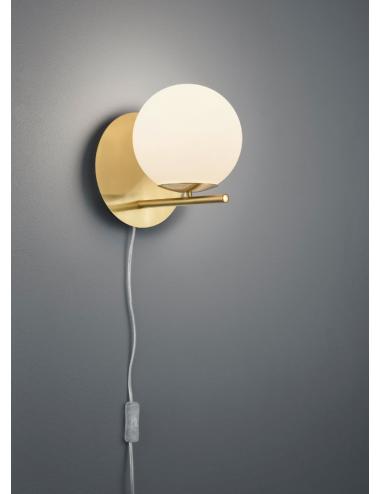 Sienas lampa ''Pure'' misiņš