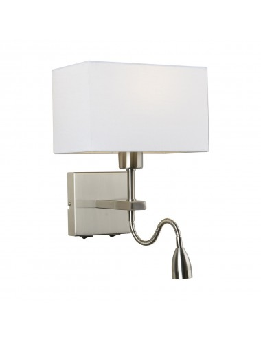 Sienas lampa Norte balta