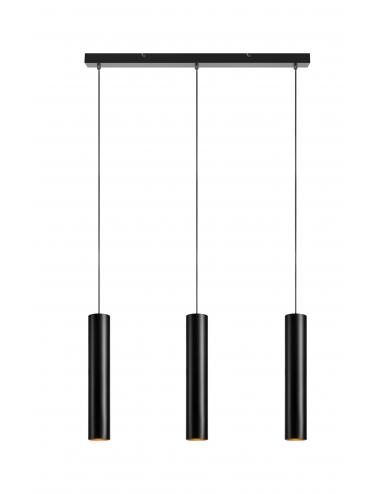 Piekaramā lampa Ruben melna