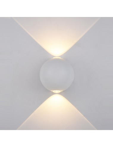 Fasādes lampa Carsoli balta