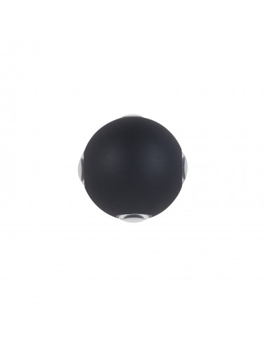 Fasādes lampa Trivento melna