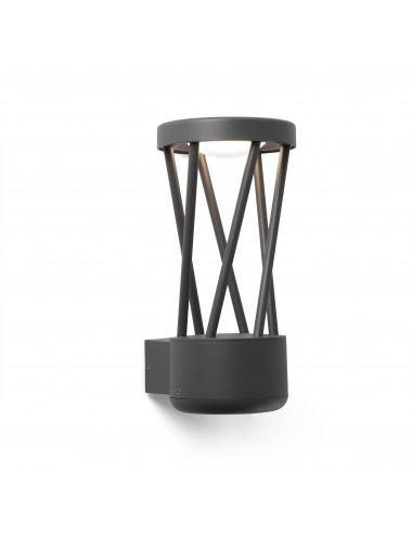 Fasādes lampa Twist pelēka