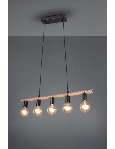 Piekaramā lampa Einar melna