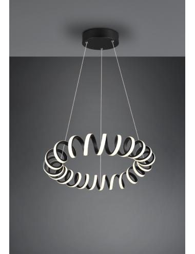 Piekaramā lampa Curl melna