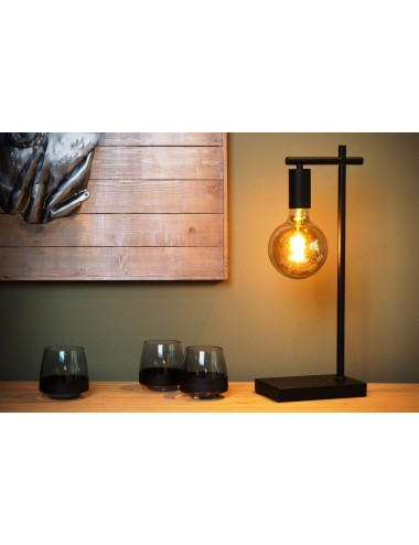 Galda lampa Leanne melna