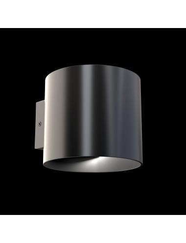Sienas lampa Rond melna