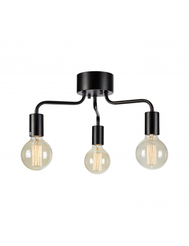 Griestu lampa Avery melna