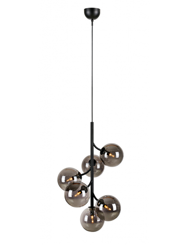 Piekaramā lampa Callisto melna