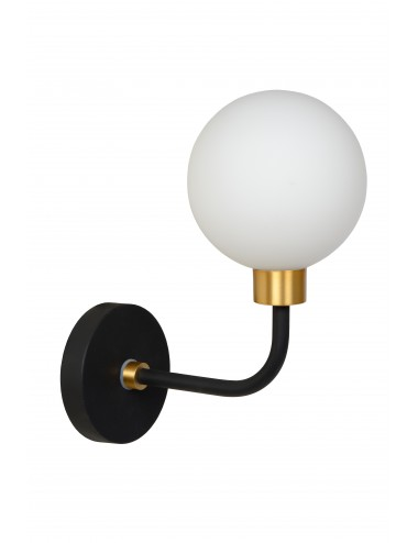 Sienas lampa Berend melna
