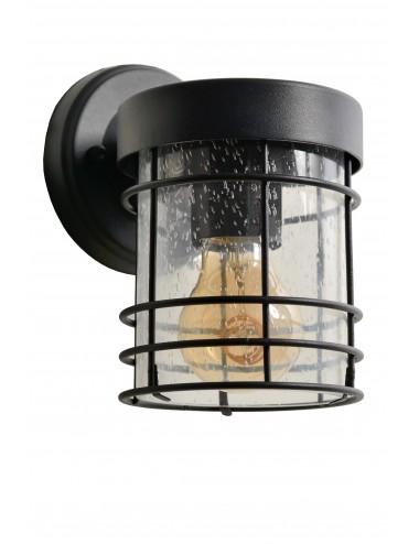 Fasādes lampa Keppel melna