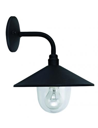 Fasādes lampa Pilos melna