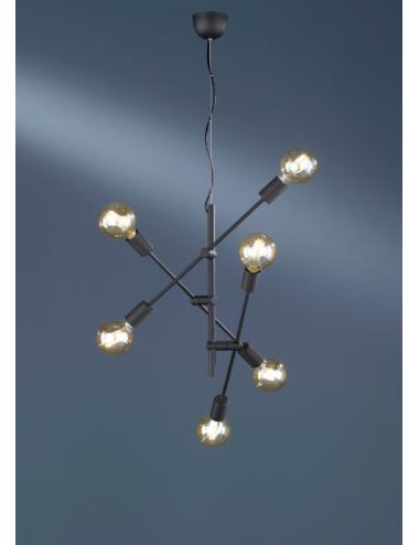 Piekaramā lampa Cross melna