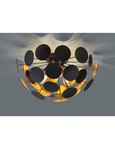 Griestu lampa Discalgo melna
