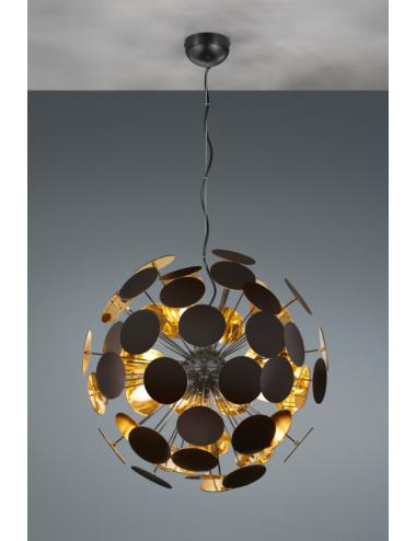 Piekaramā lampa Discalgo melna