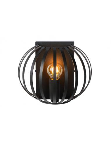 Sienas lampa Manuela melna