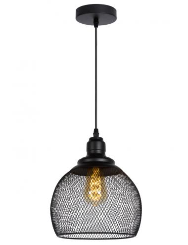 Piekaramā lampa Mesh melna